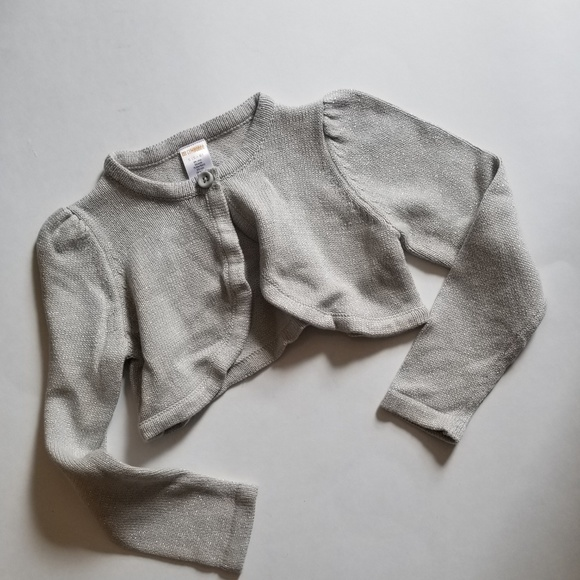 Gymboree Other - Silver sparkly shrug sweater